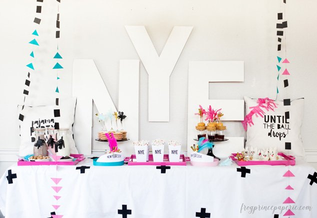 Family New Years Eve party ideas - throw a pajama party everyone can get in on with simple and easy to do details.