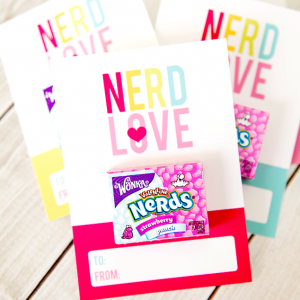 Nerd Valentine free printable