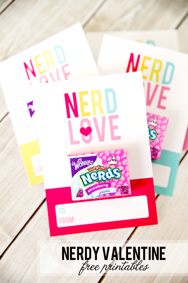 Nerdy Valentines Day Free Printables Frog Prince Paperie