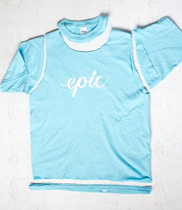 No-sew-tshirt-upcycle-cut-shirt