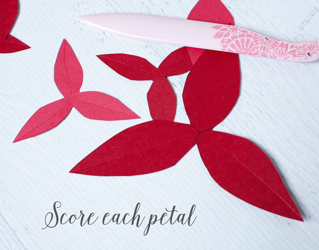 How to make a paper poinsettia frog prince paperie paper poinsetta tutorial 2 mightylinksfo