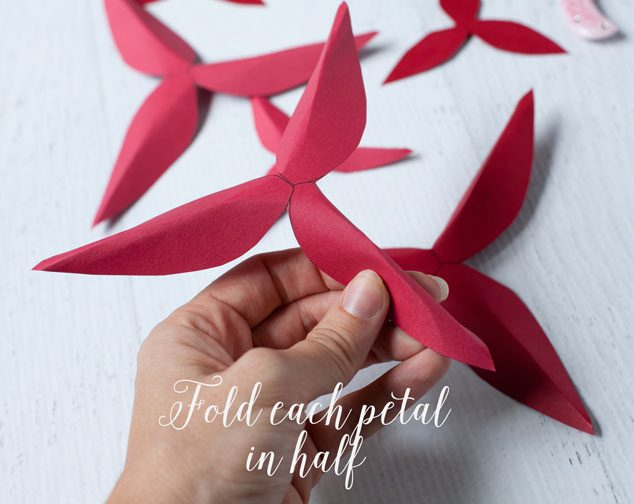 How to make a paper poinsettia frog prince paperie paper poinsetta tutorial 3 mightylinksfo