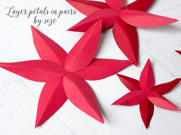 How to make a paper poinsettia frog prince paperie paper poinsetta tutorial 4 mightylinksfo