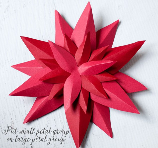 How to make a paper poinsettia frog prince paperie paper poinsetta tutorial 6 mightylinksfo