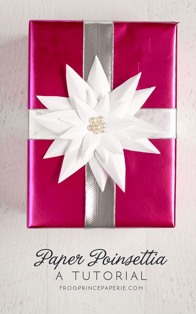 How to make a paper poinsettia frog prince paperie paper poinsetta tutorial mightylinksfo