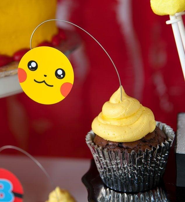 Pikachu-brownie-cupcake