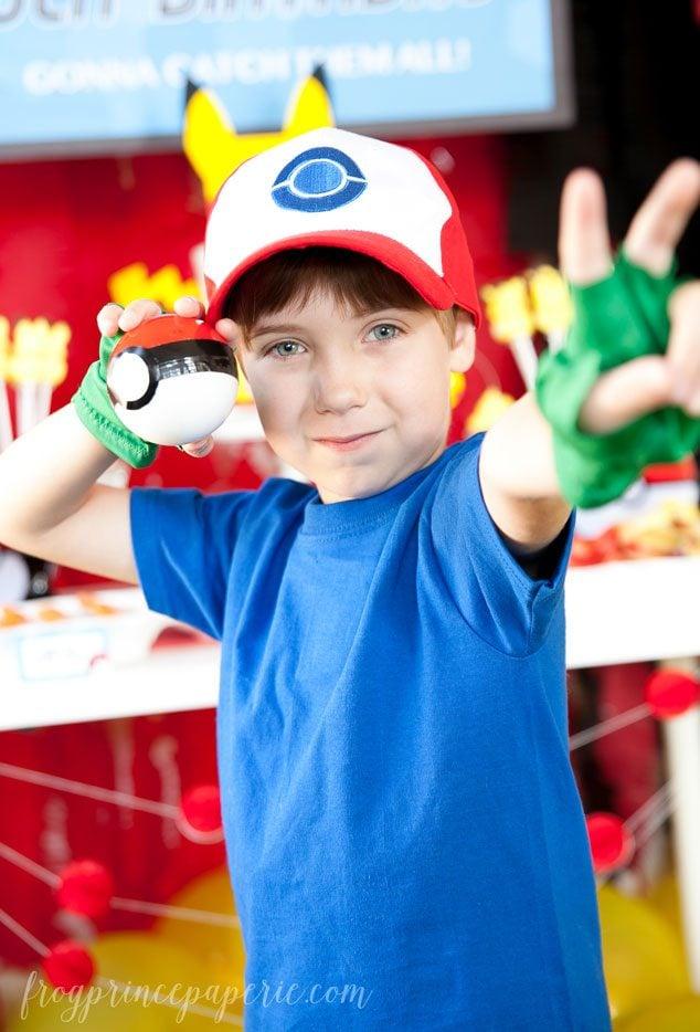 Pokemon Ash with Pokeball