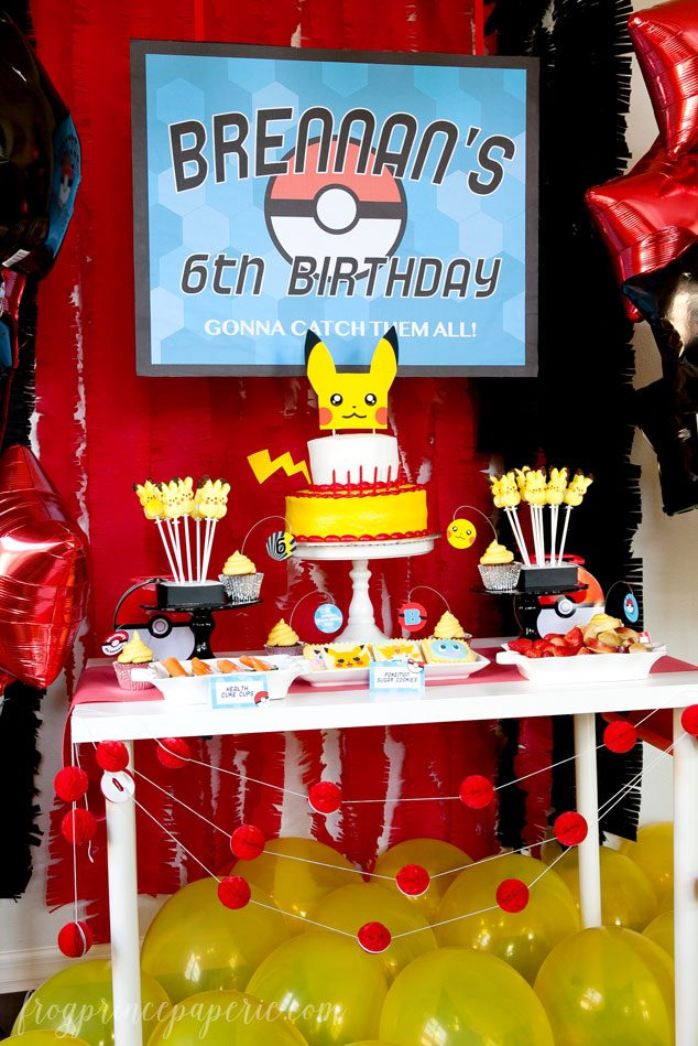 Easy Pokemon Birthday Party Ideas Page 4 Of 4 Frog