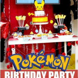 Pokemon Birthday party ideas for the perfect Pokemon party