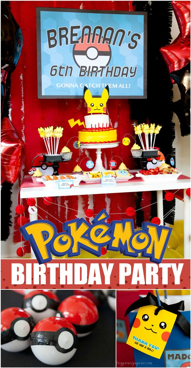 Easy Pokemon Birthday Party Ideas Frog Prince Paperie