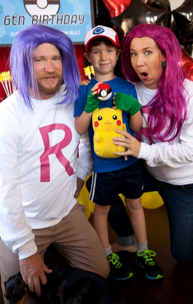 Your Pokemon Trainer will love if the adults get into character at your Pokemon birthday party. Dress up like Team Rocket and be the bad guys!