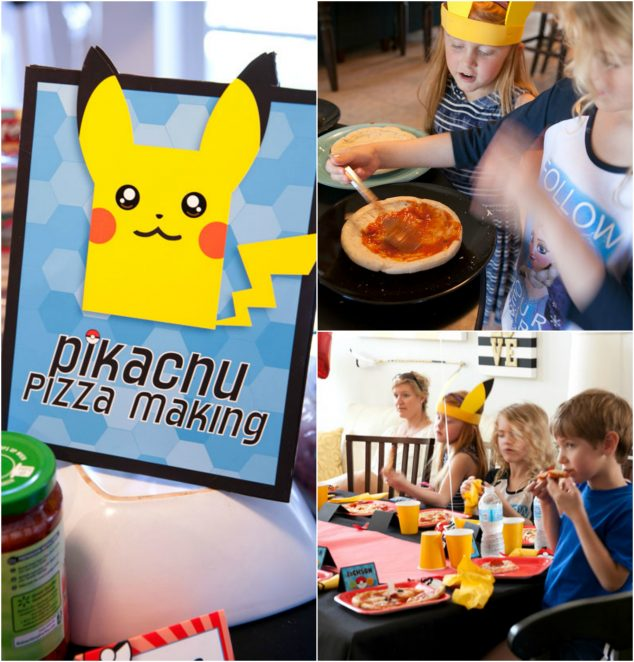 Pokemon Pikachu Pizzas