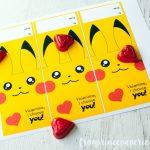 Free Printable Pokemon Valentine