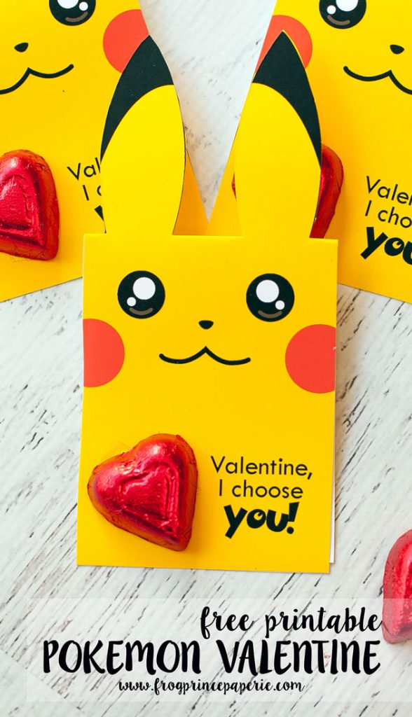 When Valentines Day Comes Around This Year, You Can Let Your Favorite  Pokemon Trainer Hand Out Pikachus With This Free Printable Pokemon Valentine !