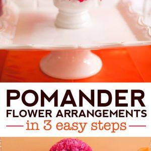 Three Step Pomander Flower Centerpiece Tutorial