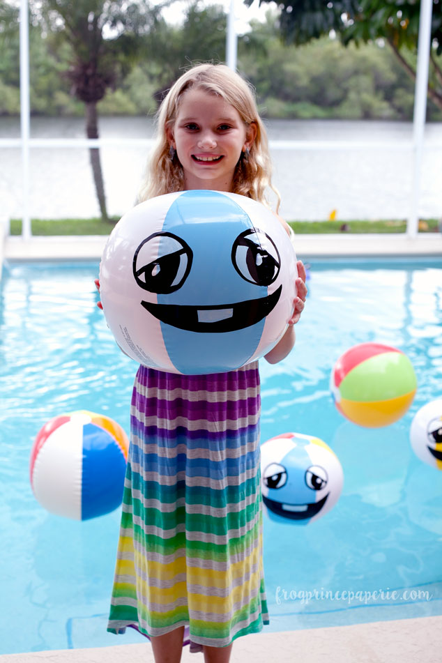 Every left shark pool party needs a few smiling beach balls!