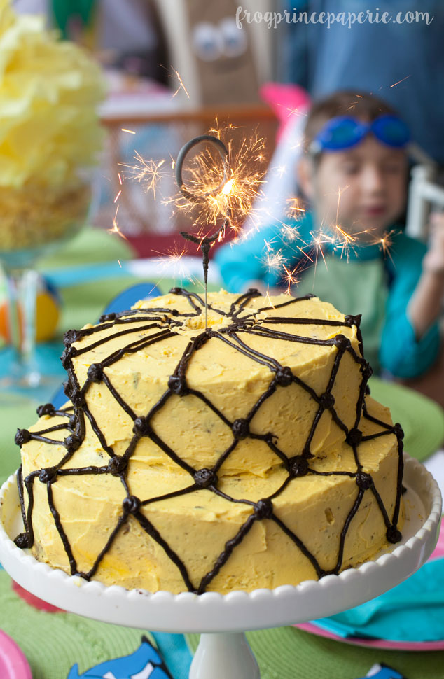 Once you remove the paper top from your pineapple cake, light your number sparkler and sing happy birthday