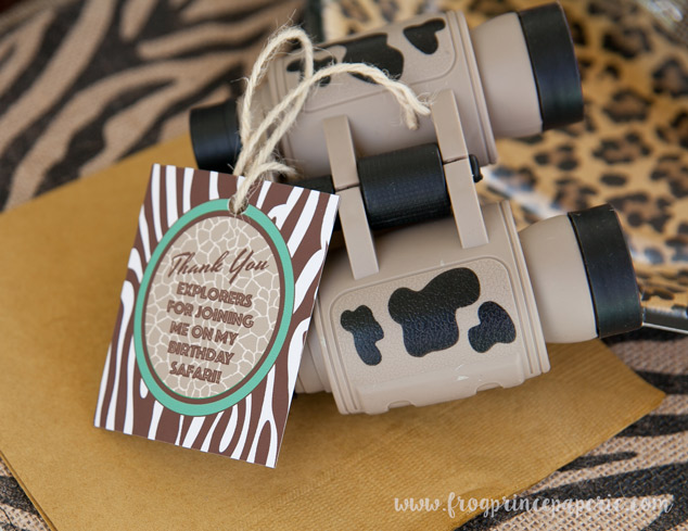 Binoculars as a party favor a safari birthday party