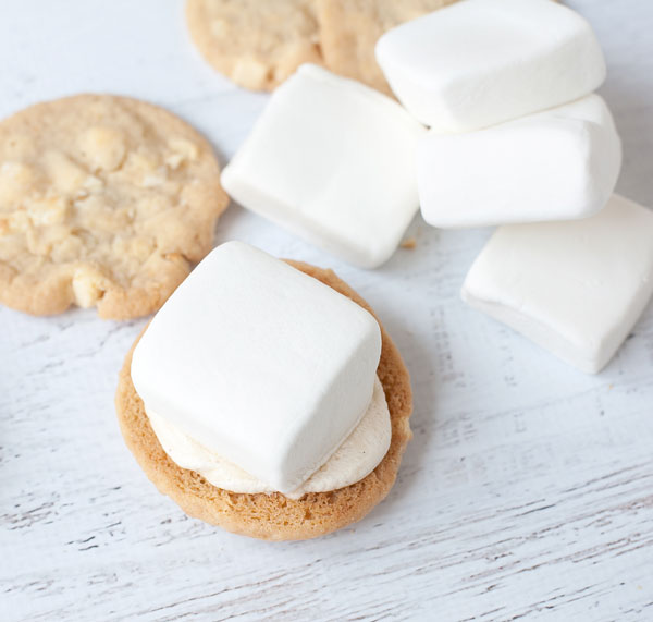 A semi-homemade recipe for salted caramel ganache s'mores that it totally worth a click to see!