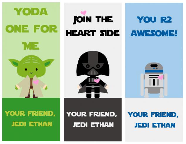 Star Wars Printable Valentines