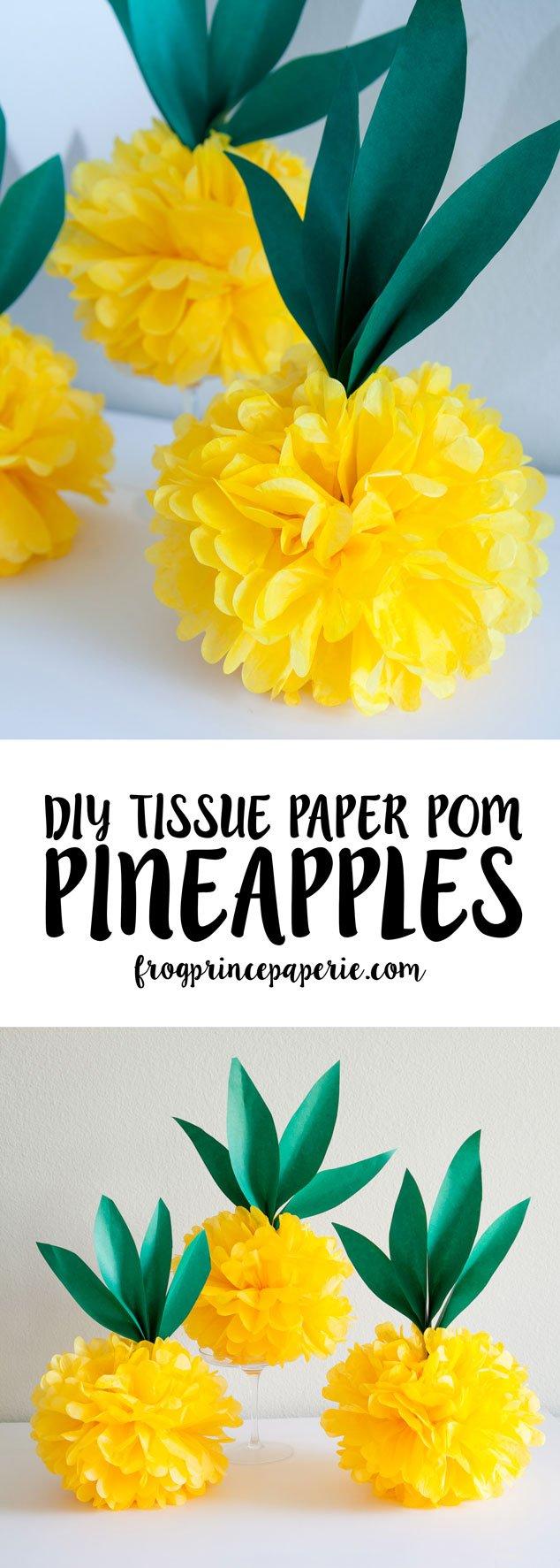 Tissue-Paper-Pom-Pineapples