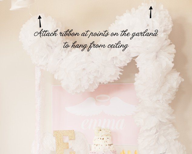 Tissue Pom Garland Tutorial - how to hang