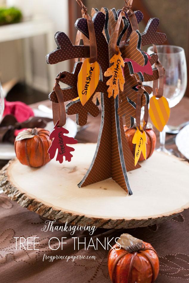 Free printable Tree of Thanks for Thanksgiving gratitude
