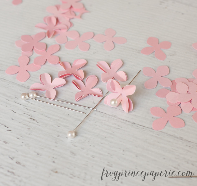 Make a Valentine DIY Heart wreath with a few flower punches - super easy!