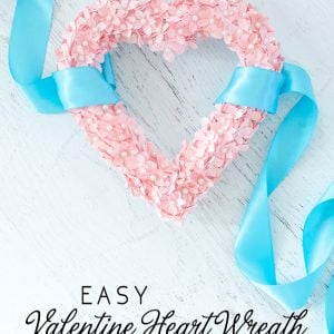 Valentines DIY Heart Shaped Wreath