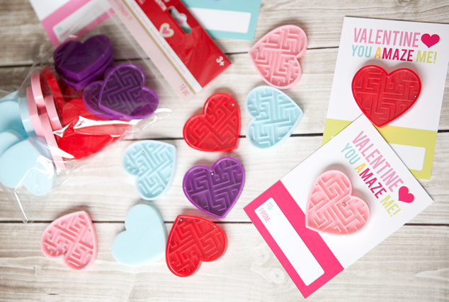 Non-candy Valentines for the classrrom that are easy to make; click for the free printable!