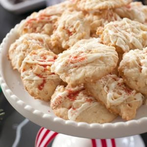 Quick Christmas cookie recipe perfect for cookie exchanges or neighbor gifts: White Chocolate Coconut Cookies