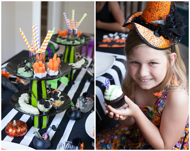 A Halloween Party turned witch's tea party on a budget for #Halloween #Witches