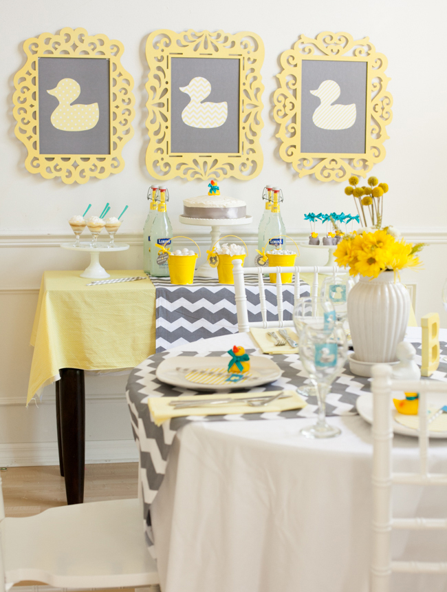 Duck Baby Shower Decorations - Frames - Frog Prince Paperie