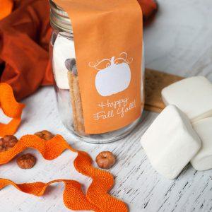 Free Printable Fall Pumpkin Favor Bag Tags