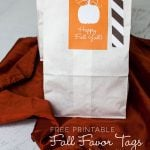 Free Printable Fall Pumpkin Favor Bag Tags