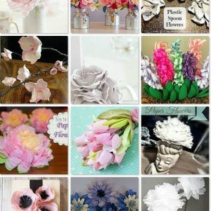 Round up of beautiful DIY faux flower tutorials