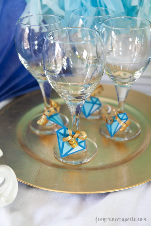gem baby shower wine glasses