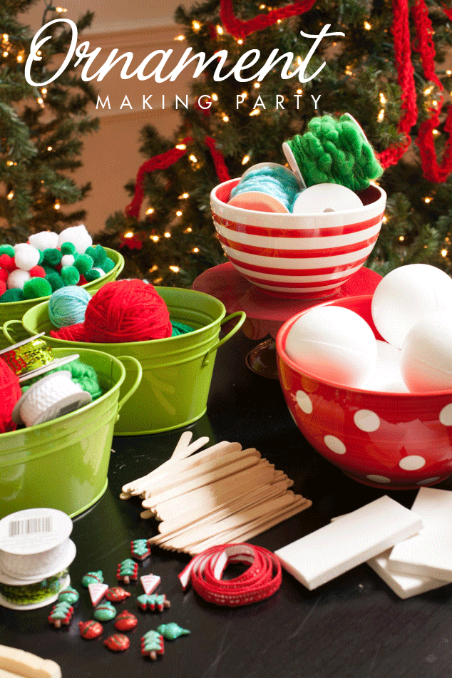 Children's Ornament Making Party and Kid Christmas Crafts ...