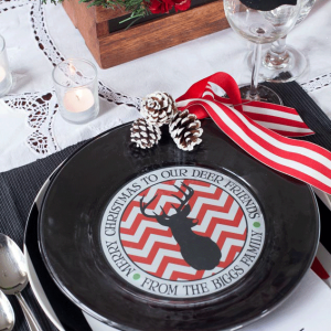 Personalized Plates for the Holidays