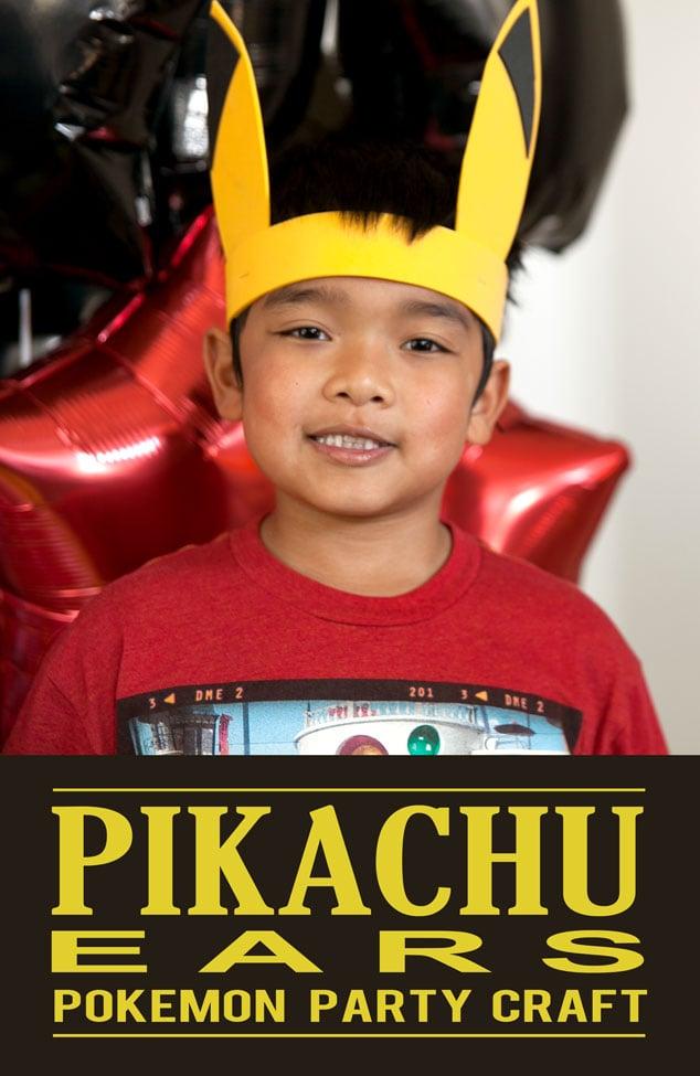 Pikachu Ears Pokemon Party Activity
