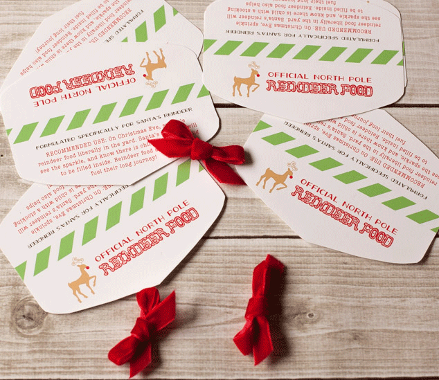 Free printable reindeer food tag and a cellophane bag topper tutorial