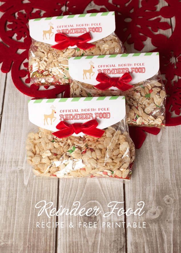15 Minute Reindeer Food Favor and Free Printable