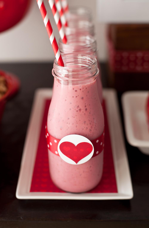 Healthy Valentine's Day dessert table