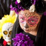 Sugar Skull Face Painting with Tulip Body Art Paint