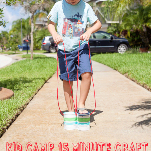 Kids' 15 Minute Camp Crafts: Recycled Tin Can Stilts Tutorial