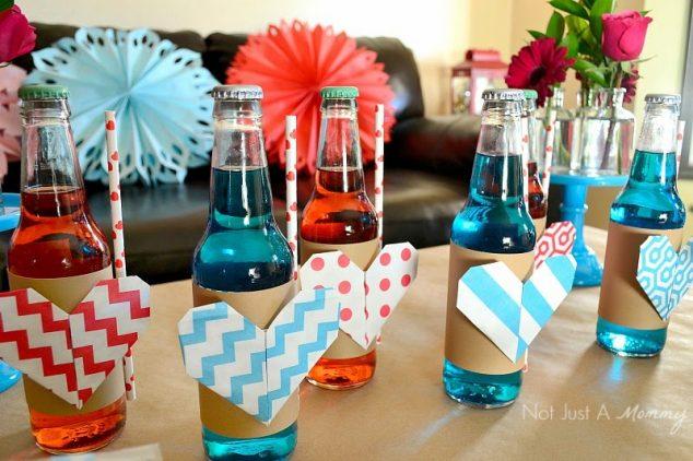 valentine soda bottles