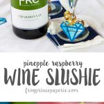 Baby Shower Mocktails to Die for: Pineapple Raspberry Wine Slushies