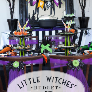 Little Witch's Tea Party on a Budget – A Bewitching Halloween Party